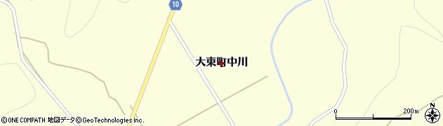 岩手県一関市大東町中川周辺の地図