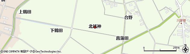 岩手県奥州市前沢白山(北銭神)周辺の地図