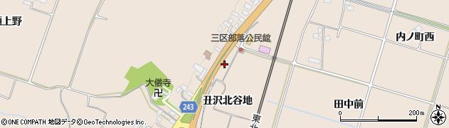 岩手県奥州市前沢古城(丑沢北谷地)周辺の地図