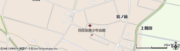 岩手県奥州市前沢古城(四反田)周辺の地図