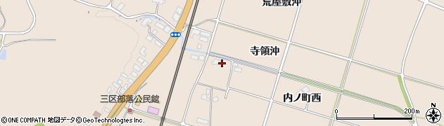 岩手県奥州市前沢古城(寺領沖)周辺の地図
