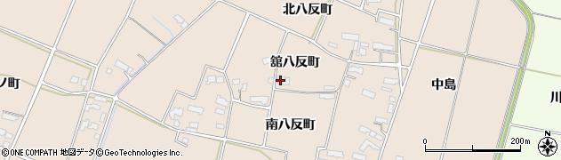 岩手県奥州市前沢古城(舘八反町)周辺の地図