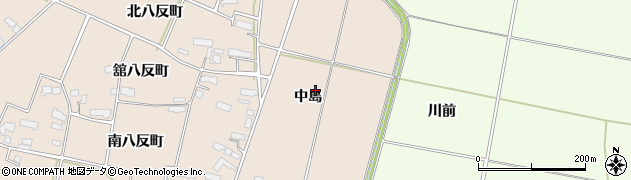 岩手県奥州市前沢古城(中島)周辺の地図