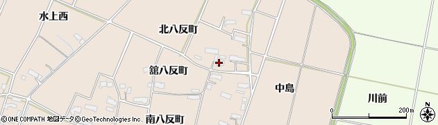 岩手県奥州市前沢古城(北八反町)周辺の地図