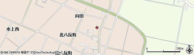 岩手県奥州市前沢古城(向田)周辺の地図