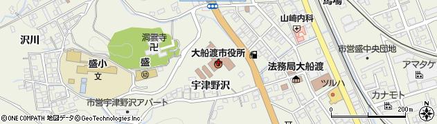 岩手県大船渡市周辺の地図