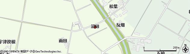 岩手県奥州市前沢白山(沼田)周辺の地図