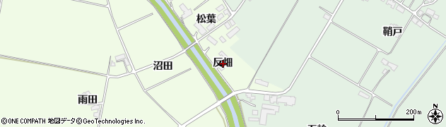 岩手県奥州市前沢白山(反畑)周辺の地図