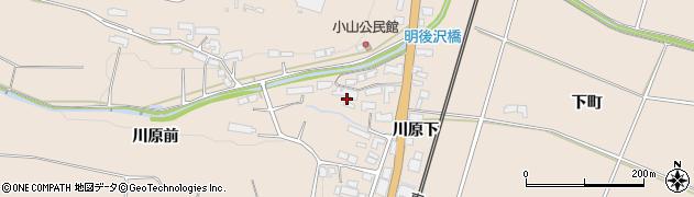 岩手県奥州市前沢古城(川原前)周辺の地図