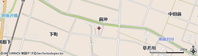 岩手県奥州市前沢古城(前沖)周辺の地図