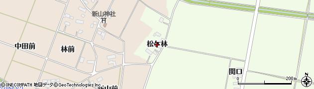 岩手県奥州市前沢白山(松ケ林)周辺の地図