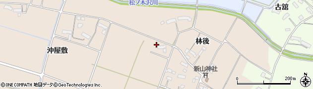 岩手県奥州市前沢古城(中田前)周辺の地図