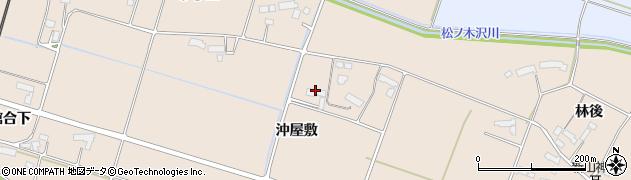 岩手県奥州市前沢古城(沖屋敷)周辺の地図
