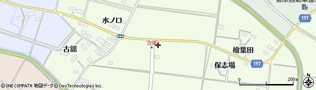 岩手県奥州市前沢白山(舘沖)周辺の地図