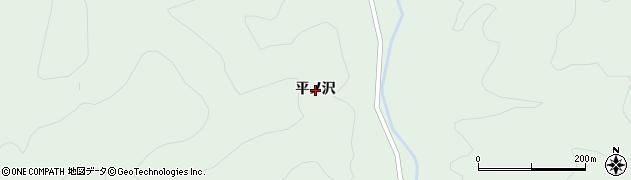 秋田県由利本荘市鳥海町上笹子(平ノ沢)周辺の地図