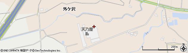 岩手県奥州市前沢古城(外ケ沢)周辺の地図