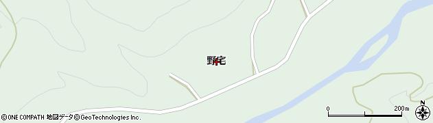 秋田県由利本荘市鳥海町上笹子(野宅)周辺の地図