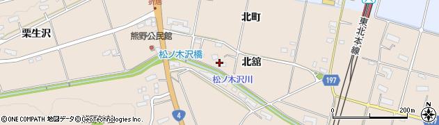 岩手県奥州市前沢古城(北舘)周辺の地図