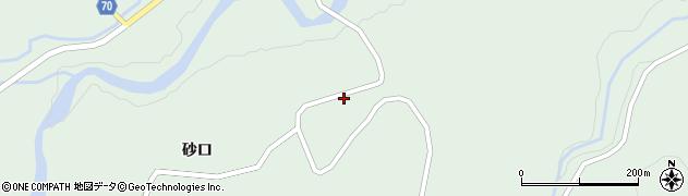 秋田県由利本荘市鳥海町上笹子(沼ノ平)周辺の地図