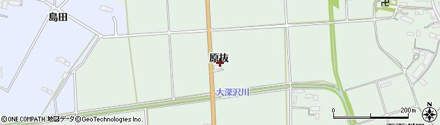 岩手県奥州市水沢姉体町(原抜)周辺の地図