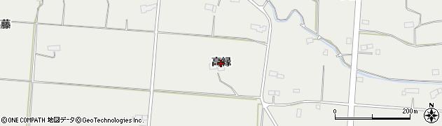 岩手県奥州市胆沢小山(高縁)周辺の地図