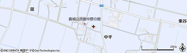 岩手県奥州市水沢真城(中平)周辺の地図
