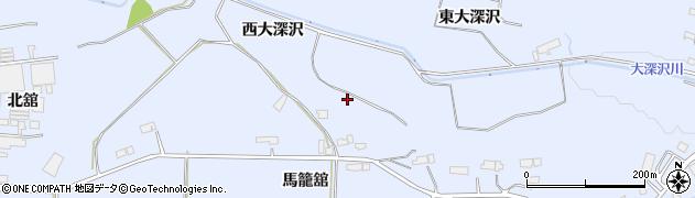 岩手県奥州市水沢真城(馬籠舘)周辺の地図