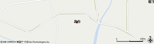 岩手県奥州市胆沢小山(北台)周辺の地図