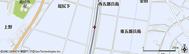 岩手県奥州市水沢真城(川原)周辺の地図