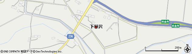 岩手県奥州市胆沢小山(下昼沢)周辺の地図