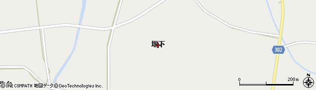 岩手県奥州市胆沢小山(堰下)周辺の地図