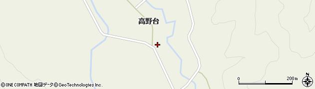 秋田県由利本荘市鳥海町百宅(高野台)周辺の地図