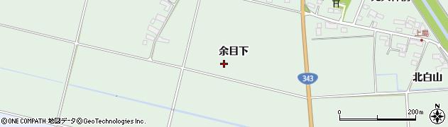 岩手県奥州市水沢姉体町(余目下)周辺の地図