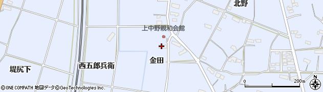 岩手県奥州市水沢真城(金田)周辺の地図