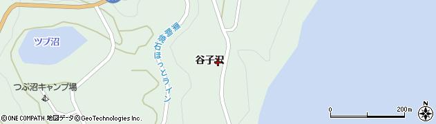岩手県奥州市胆沢若柳(谷子沢)周辺の地図