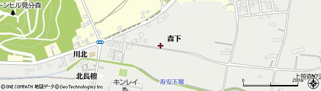 岩手県奥州市胆沢小山(森下)周辺の地図