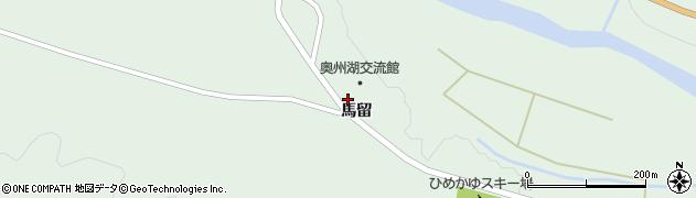 岩手県奥州市胆沢若柳(馬留)周辺の地図