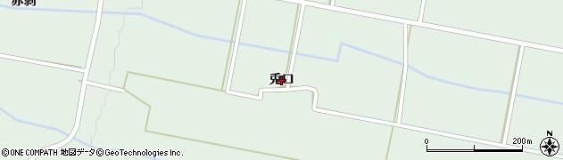 岩手県奥州市胆沢若柳(兎口)周辺の地図
