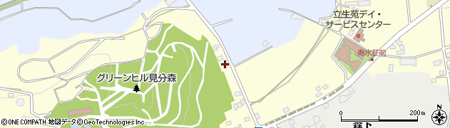 岩手県奥州市水沢(見分森)周辺の地図