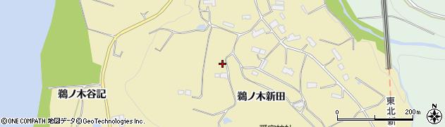 岩手県奥州市水沢黒石町(鵜ノ木新田)周辺の地図