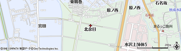 岩手県奥州市水沢姉体町(北余目)周辺の地図