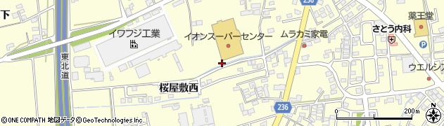 岩手県奥州市水沢(桜屋敷西)周辺の地図