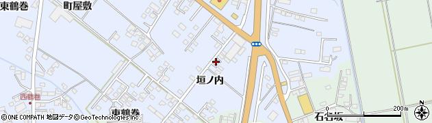 岩手県奥州市水沢真城(垣ノ内)周辺の地図
