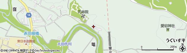 岩手県奥州市水沢羽田町(篭)周辺の地図