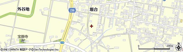 岩手県奥州市水沢(堰合)周辺の地図