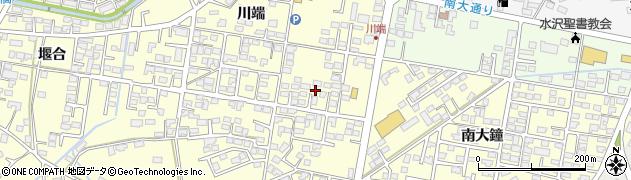 岩手県奥州市水沢(川端)周辺の地図