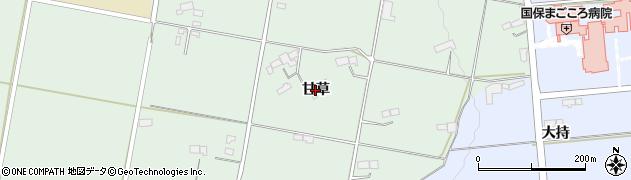岩手県奥州市胆沢若柳(甘草)周辺の地図