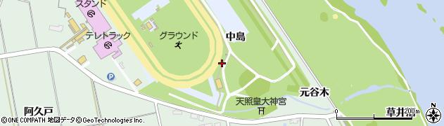 岩手県奥州市水沢真城(中島)周辺の地図