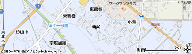 岩手県奥州市水沢真城(苅又)周辺の地図