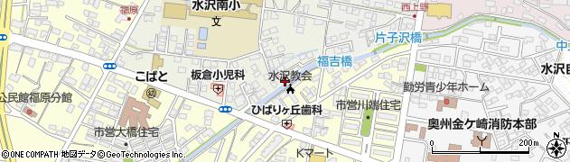 岩手県奥州市水沢(車田)周辺の地図